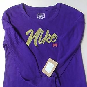 Nike long sleeve thermal/waffle purple long sleeve